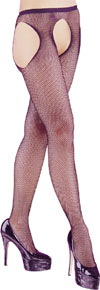 Fishnet Suspender Tights BLACK