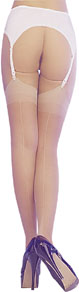 Sheer Pointed Heel Stockings