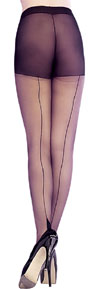 Sheer Pointed Heel Tights BLACK